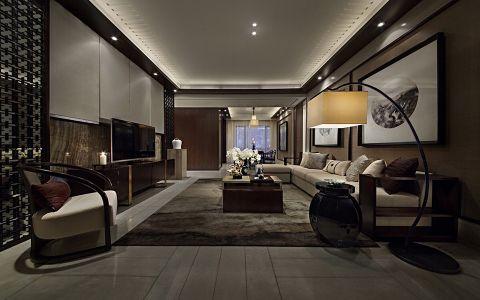 新中式风格136平米楼房新房装修效果图