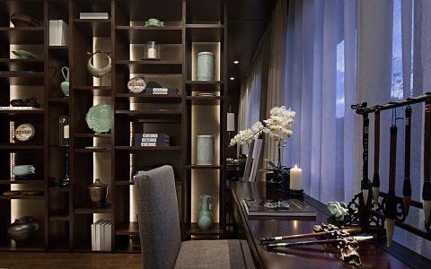 书房博古架新中式风格装饰设计图片