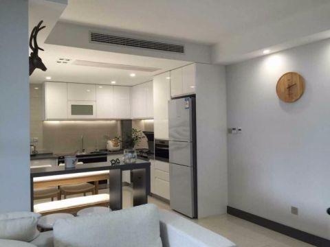现代简约风格96平米三室两厅新房装修效果图