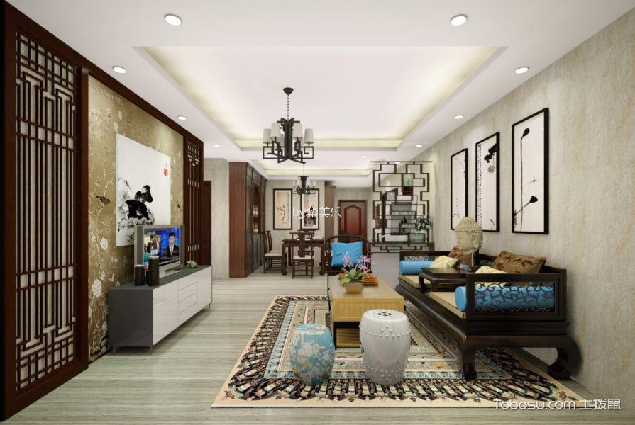 新中式风格130平米大户型新房装修效果图