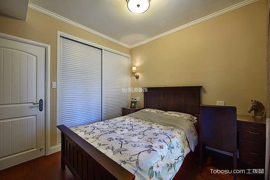 卧室白色衣柜美式风格装潢设计图片
