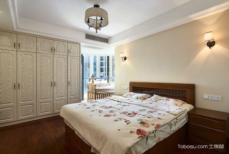 卧室白色吊顶田园风格装潢图片