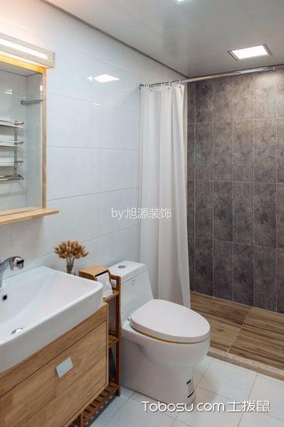 卫生间白色背景墙日式风格装潢设计图片