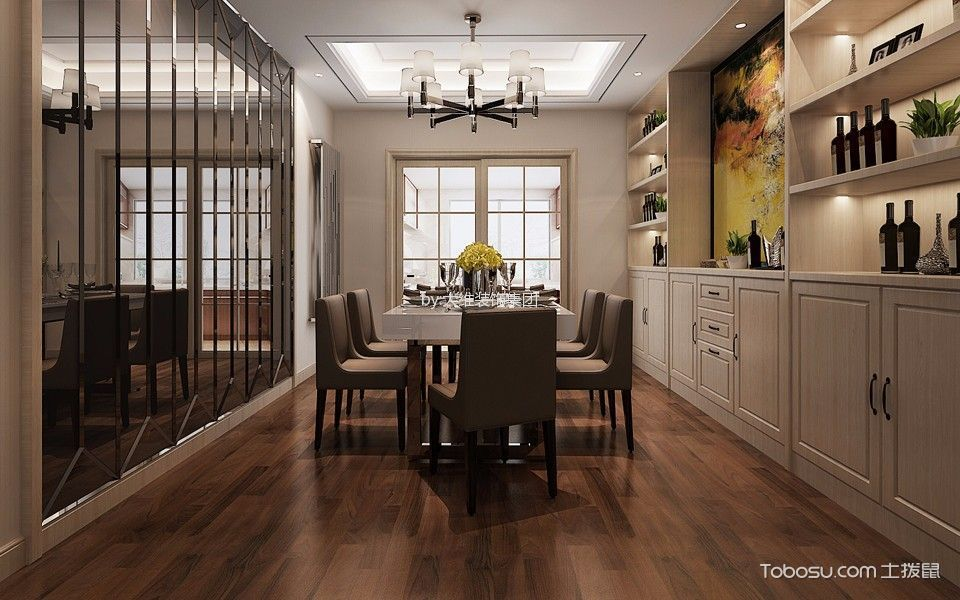 简中风格160平米大户型室内装修效果图