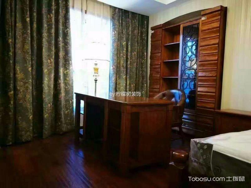 卧室彩色窗帘中式古典风格装修图片