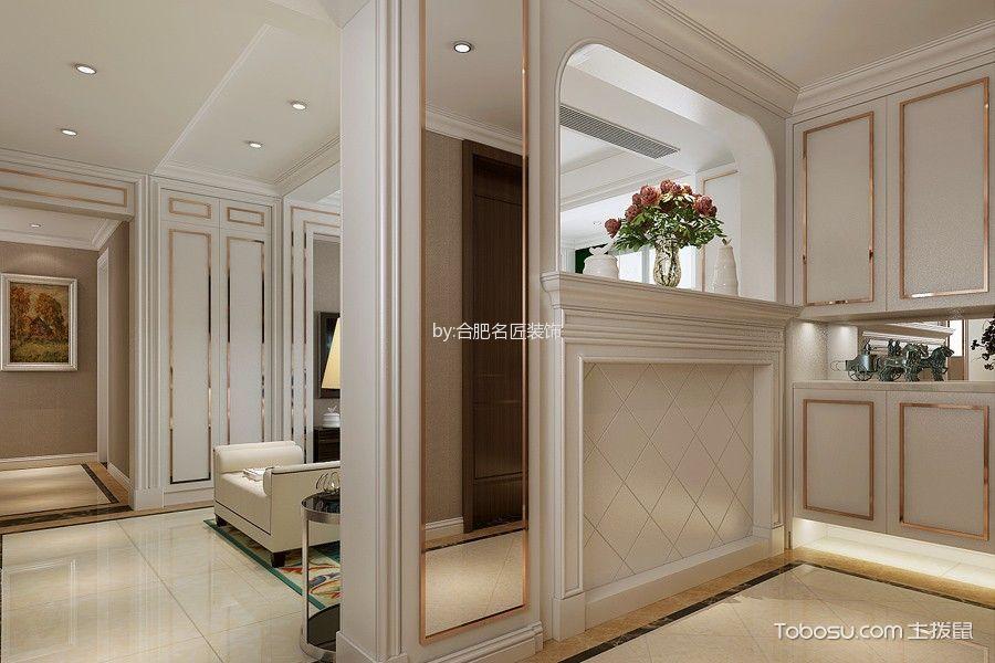 玄关黄色地砖美式风格装潢效果图