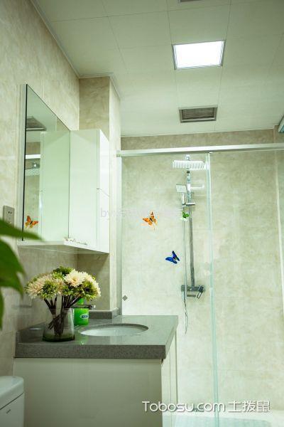 卫生间白色吊顶简约风格装潢效果图