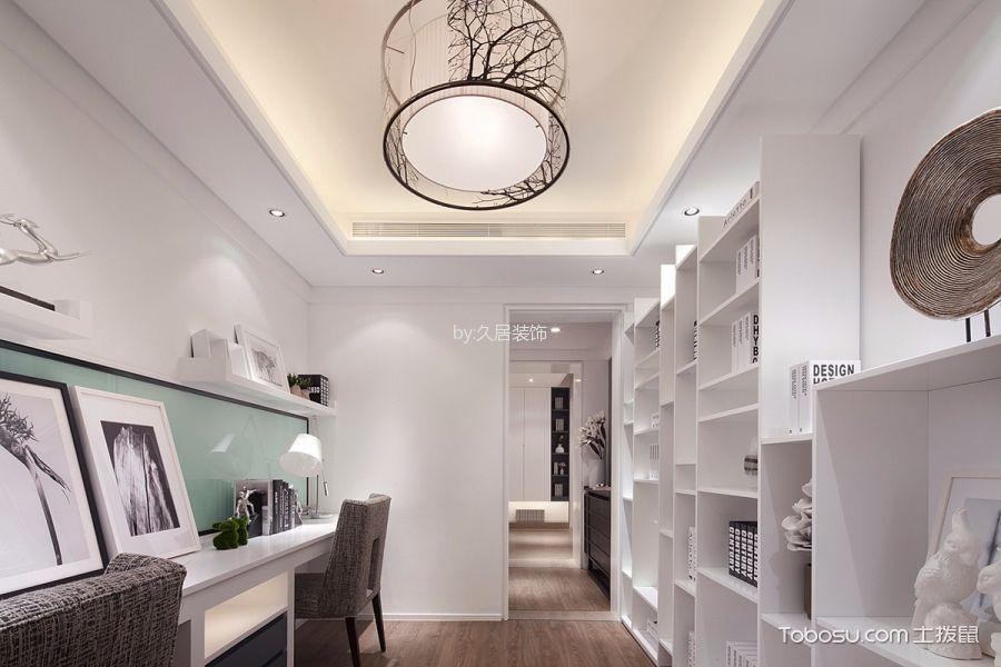 书房白色吊顶简约风格装修效果图