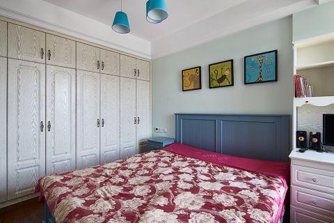 卧室照片墙田园风格装修设计图片