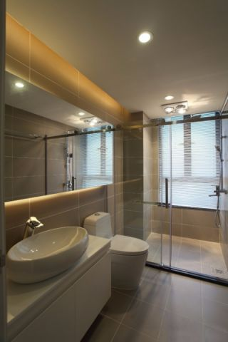 卫生间洗漱台现代风格装饰效果图