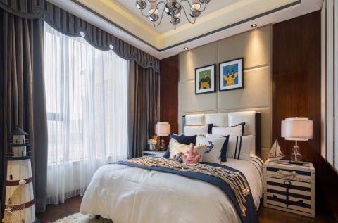 卧室照片墙中式风格装潢设计图片
