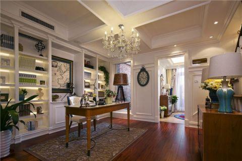 书房书桌美式风格装饰图片