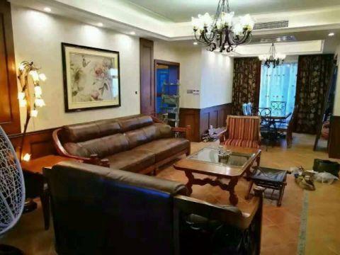 中式古典风格120平米三室两厅房子装修效果图