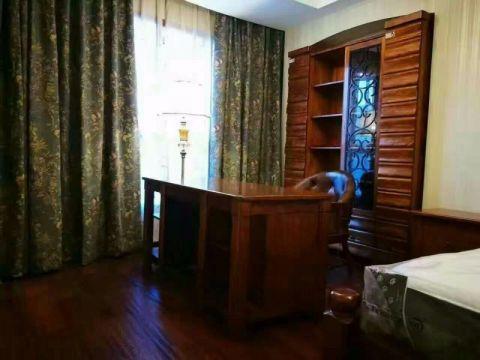 卧室窗帘中式古典风格装修图片