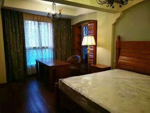 卧室地板砖中式古典风格装饰图片