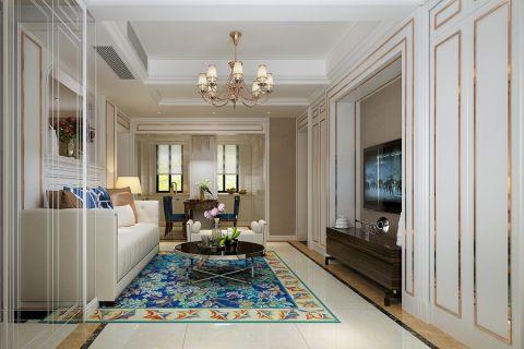 客厅茶几美式风格装修效果图