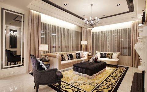 欧式风格130平米公寓室内装修效果图