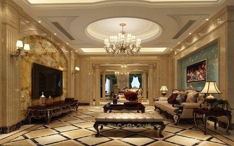 欧式风格350平米别墅新房装修效果图