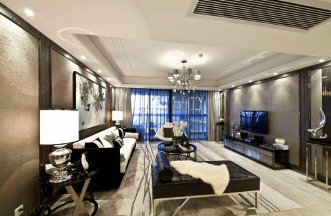 现代风格108平米三室两厅新房装修效果图