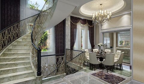 餐厅楼梯法式风格装饰效果图