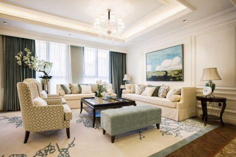 美式风格108平米四室两厅新房装修效果图
