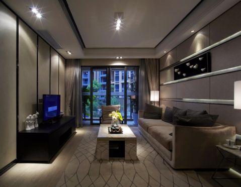 现代简约风格108平米三室两厅新房装修效果图