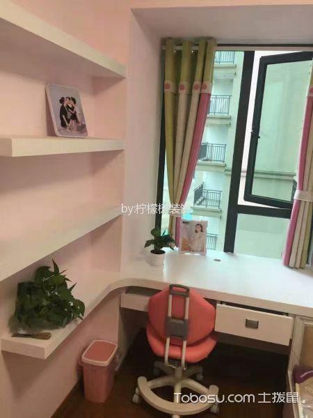 儿童房白色书桌简约风格装修效果图