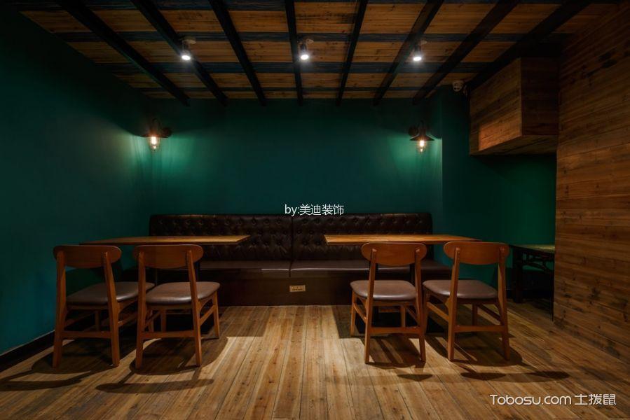 河西天马美式风格咖啡厅背景墙装潢实景图