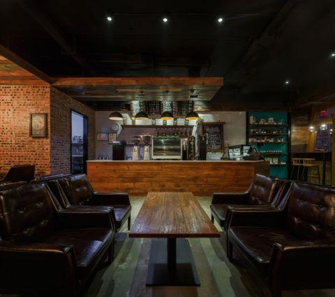 河西天马美式风格咖啡厅装潢效果图