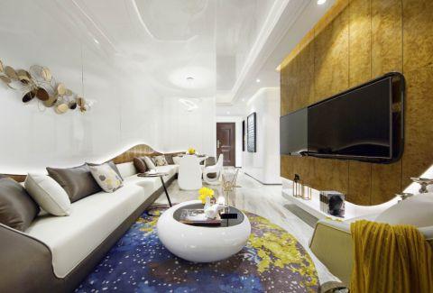 现代风格60平米一居室新房装修效果图