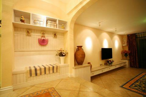 客厅电视柜地中海风格装修效果图