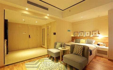 现代简约风格60平米公寓新房装修效果图
