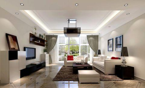 欧式风格80平米三室两厅新房装修效果图