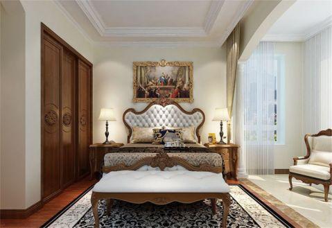 卧室床美式风格装潢设计图片