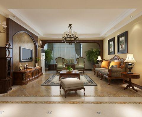客厅照片墙新古典风格装修图片