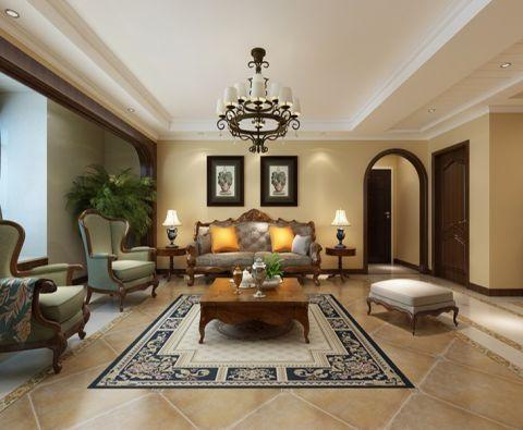 新古典风格120平米三室两厅新房装修效果图