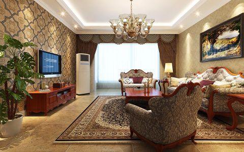 中信公园城两厅两卫141 平米美式风格效果图