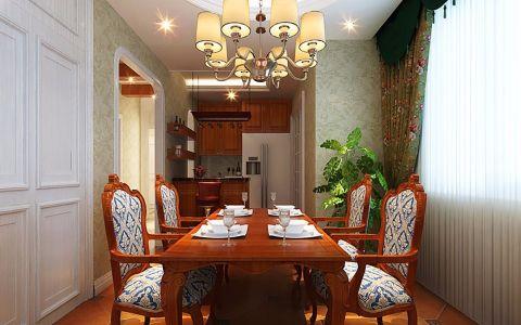 餐厅窗帘美式风格效果图