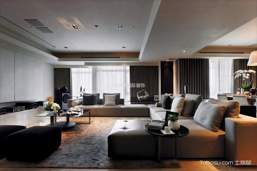 简约风格110平米两室两厅室内装修效果图
