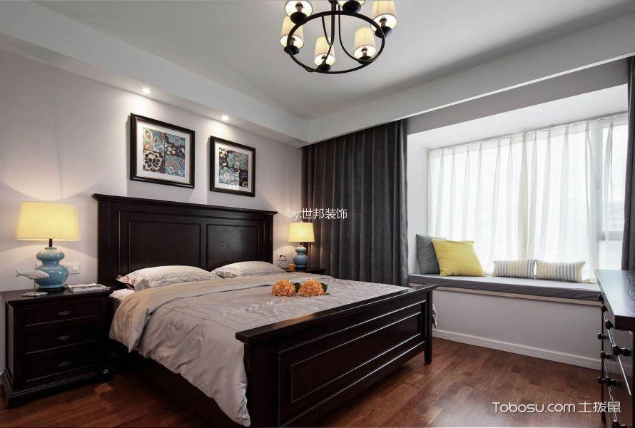 卧室白色飘窗美式风格装修效果图