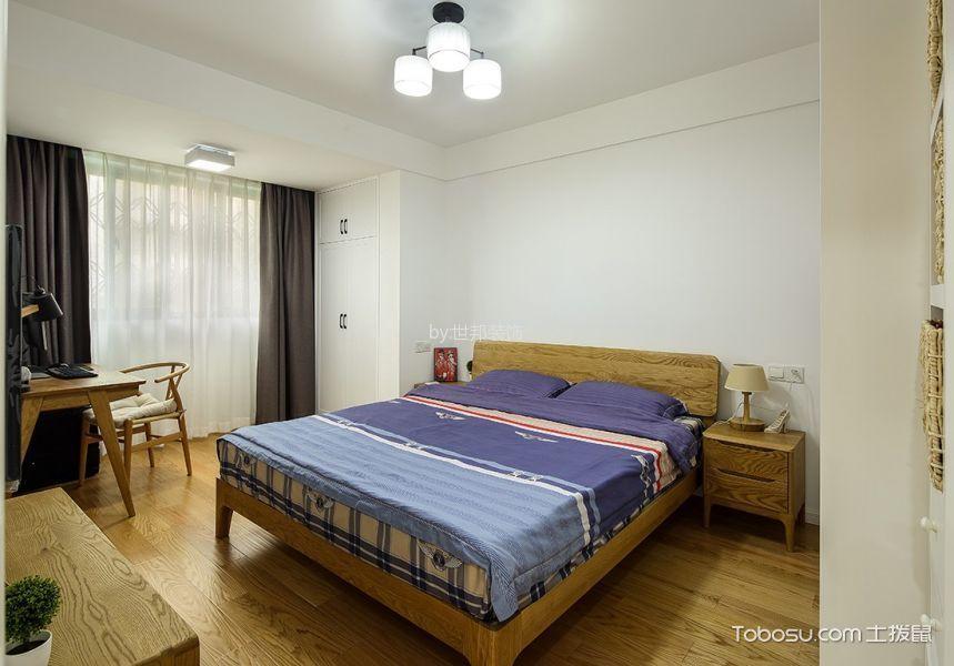 卧室黄色书桌北欧风格装潢图片