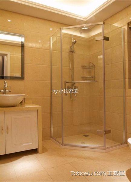 卫生间黄色地砖欧式风格装修设计图片
