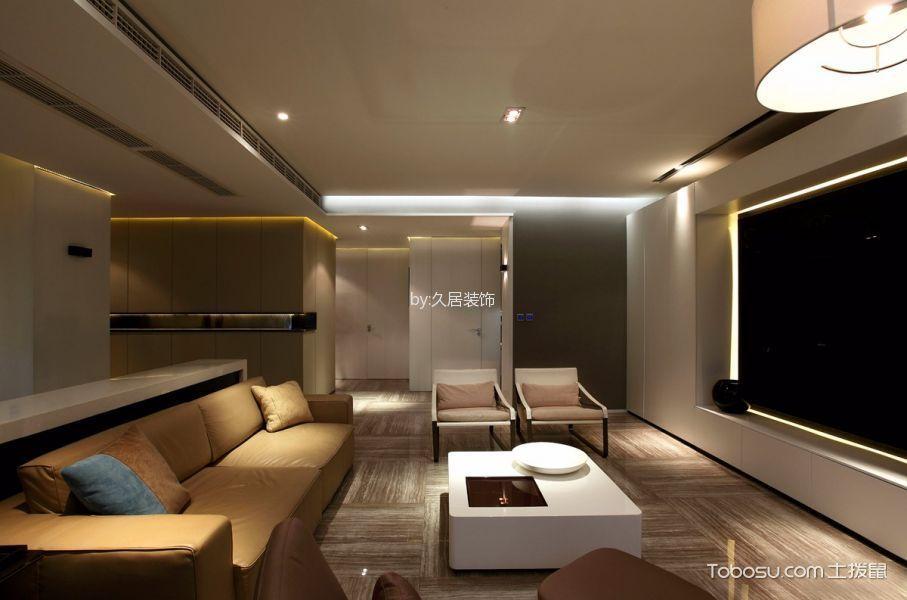客厅白色茶几现代简约风格装修设计图片