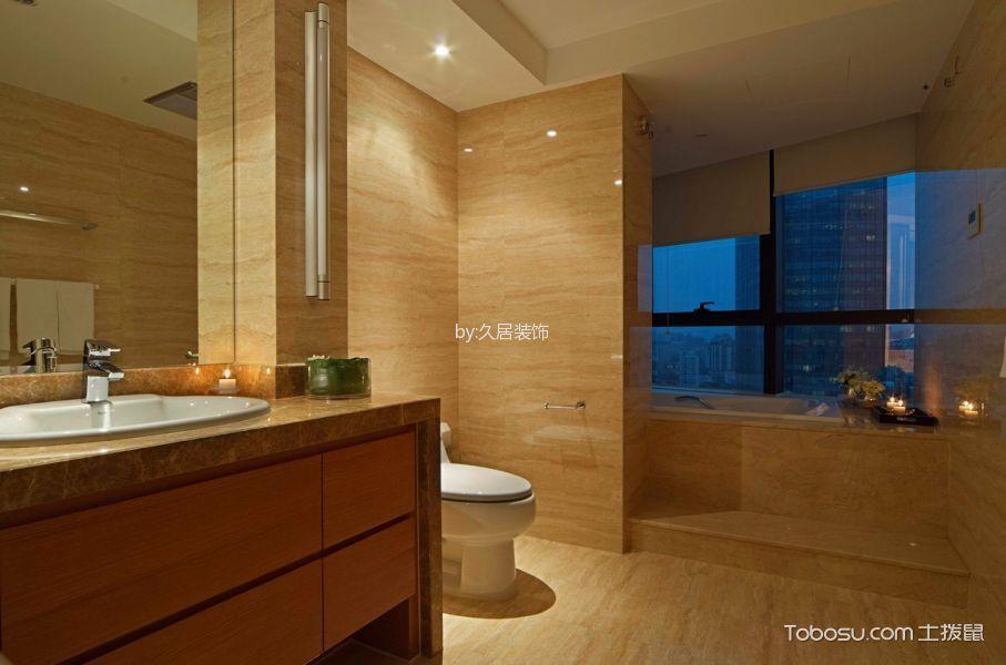 卫生间橙色洗漱台北欧风格装饰设计图片