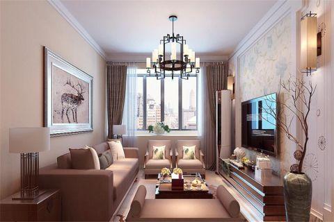 混搭风格120平米楼房新房装修效果图