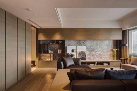 客厅地板砖简约风格装饰设计图片
