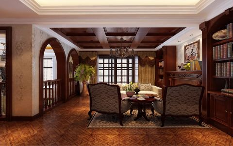 客厅茶几欧式风格装饰图片