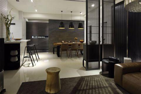 餐厅隔断简约风格装潢设计图片