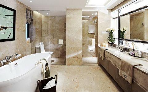 浴室浴缸欧式风格装潢效果图
