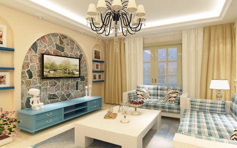 客厅电视柜混搭风格装饰效果图